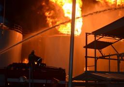 В Черкасах згоріла нафтобаза. Умовно