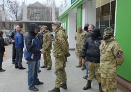 «Правий сектор» заблокував відділення «ПриватБанку»