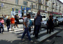Стихійники перекрили рух у центрі Черкас