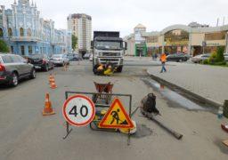 Ремонтники працюють над покращенням перехрестя Дашкевича – Хрещатик