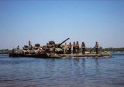 Українські військові тренуються поблизу Канева