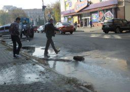 Вулицю Остафія Дашкевича – затопило