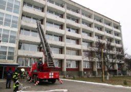 В «Обласному госпіталі для інвалідів» пройшли пожежно-тактичні навчання