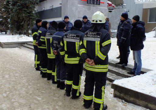 Черкаські рятувальники відпрацьовували пожежу в нічному клубі