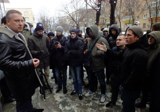 Пікетувальники протестують проти кримінальних справ щодо Дмитра Кухарчука