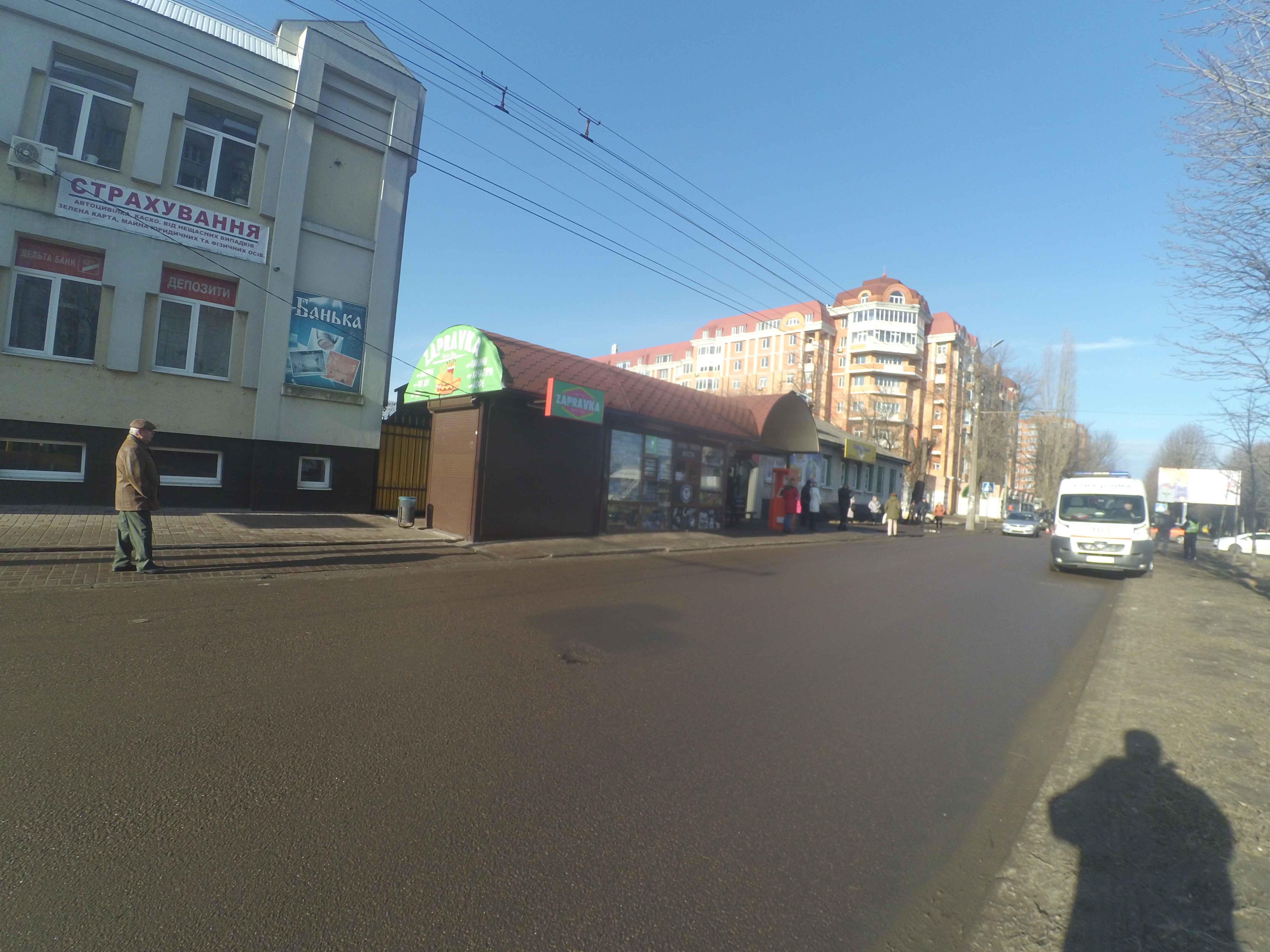 На зупинці Пушкіна в Черкасах по булв.Шевченка побудували небезпечний МАФ