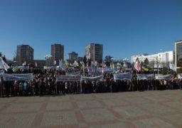 Працівники «Азоту» вийшли на акцію протесту