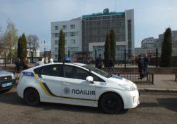 Колектив «Черкасиобленерго» зібрався на страйк під адмінбудівлею підприємства