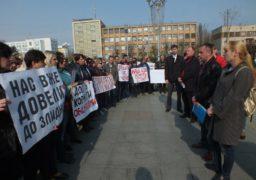 Боротьба за заробітну плату: «обленергівці» вийшли на мітинг під облдержадміністрацію