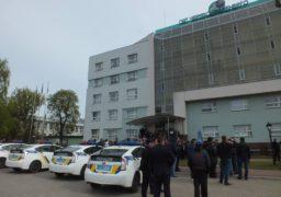 Поліція звільнила приміщення адмінбудівлі «Черкасиобленерго» від озброєних охоронців