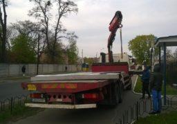 По вулиці Максима Залізняка впала рекламна конструкція
