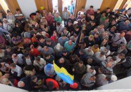 Страйкарів «Черкасиобленерго» не пропустили до обласної влади