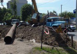 Співробітники Черкаської ТЕЦ проводять ремонтні по вулиці Благовісній