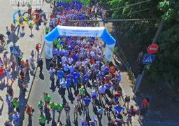 Понад тисячу черкащан взяли участь в олімпійському забігу містом