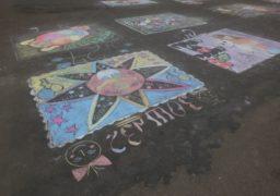 У день захисту дітей черкаський сквер прикрасили малюнками