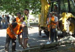 Ремонт бульвару Шевченка просувається швидше, ніж відбудова черкаської греблі
