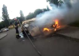 У Черкасах рятувальники оперативно загасили автомобіль