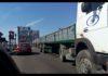 Затор на черкаському мості викликала вантажівка компанії друзів губернатора Ткаченка