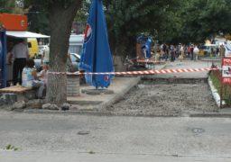По вулиці Гоголя відбувається ремонт пішохідної зони