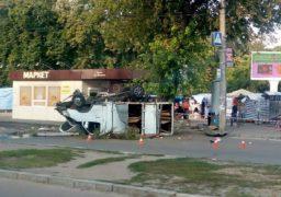 Вихідними на площі 700-річчя в результаті ДТП перевернувся вантажний автомобіль