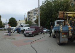 Автомобільний затор на перехресті Смілянської та Надпільної