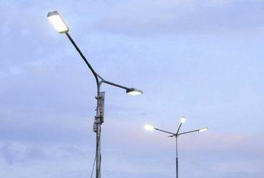 У Черкасах на вулиці Лазарєва встановили нове освітлення