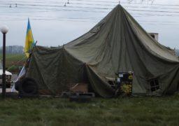 Працівники «Черкасиобленерго» встановили намети біля «Азоту»