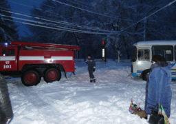 У Шполі рятувальники звільнили із замету пасажирський автобус