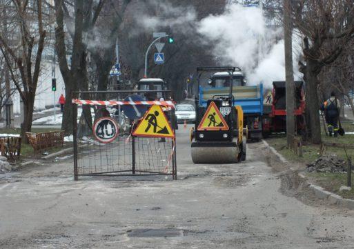 У Черкасах ремонтують вулицю Б. Хмельницького
