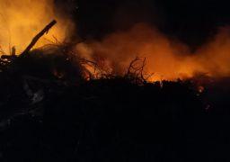 У Черкасах сталося загорання сміття на великій території