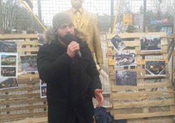 Дмитро Кухарчук виступив на мітингу перед посольством РФ у Києві