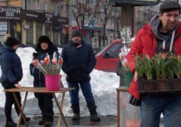 У середмісті Черкас стартував квітковий ярмарок до 8 березня