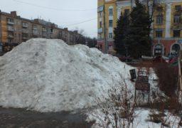 Черкаські Альпи: у середмісті утворились гори снігу