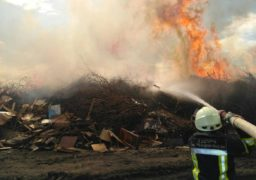 На черкаському сміттєзвалищі сталася масштабна пожежа