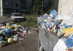 У Південно – Західному районі Черкас вже кілька днів не вивозять сміття