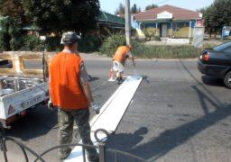 Черкаські комунальники відновлюють дорожню розмітку