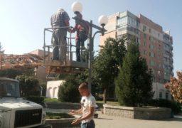 Нові світильники встановили в одному із черкаських скверів