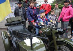 Під час заходів, присвячених 74-ій річниці перемоги над нацизмом, черкащанам показали військову техніку