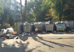 """Мешканці багатоквартирного будинку по вулиці Залізняка, 3 """"тонуть"""" у смітті"""