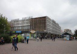 Будинок Торгівлі незабаром змінить зовнішній вигляд, почали демонтувати алюмінієві панелі