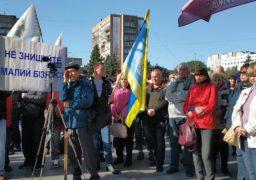 На Соборній площі у Черкасах мітингували підприємці