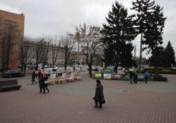 """На акцію протесту """"підприємців проти свавілля міської влади"""" одіозного власника наливайок Лисака майже ніхто не прийшов"""