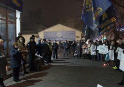 Черкащани пікетували поліцію з вимогами розслідування вбивства на тлі міжнаціональної ворожнечі