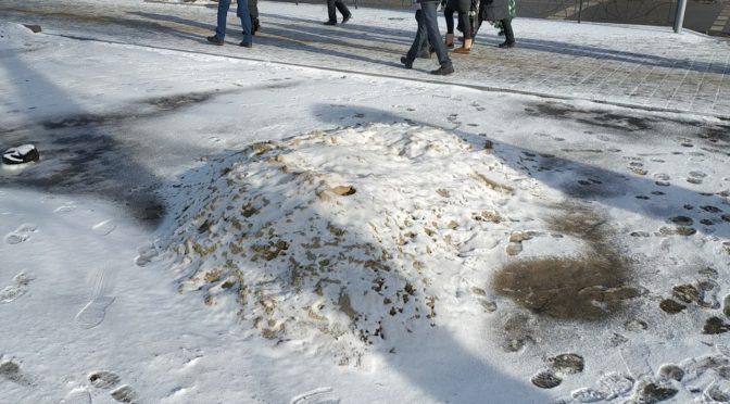 У центрі міста з осені лежить купа піску: недбалість чи далекоглядність?
