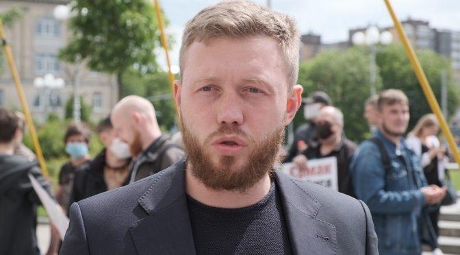 Дмитро Кухарчук, акція протесту, національний корпус