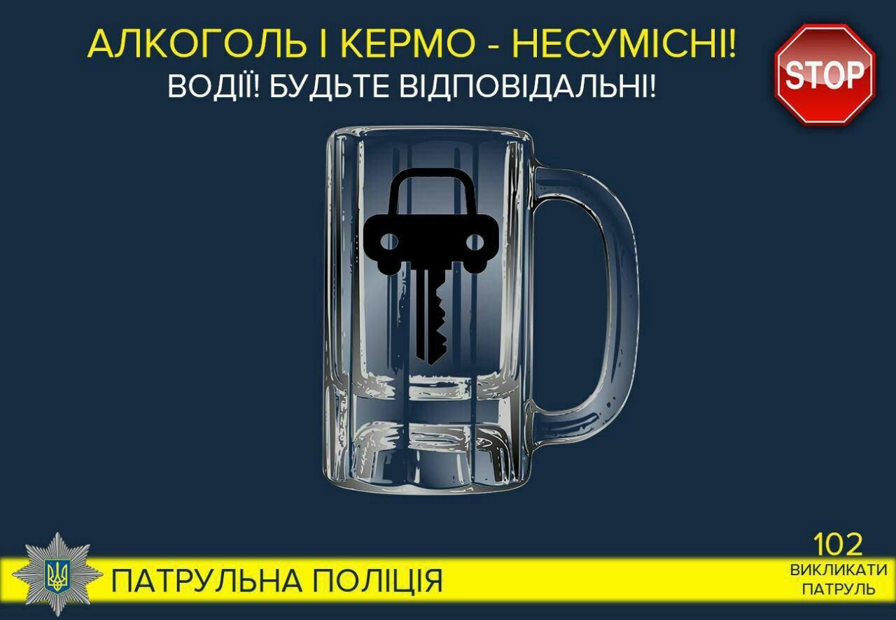 У дванадцять разів перевищив дозволену норму алкоголю: патрульні зупинили водія порушника