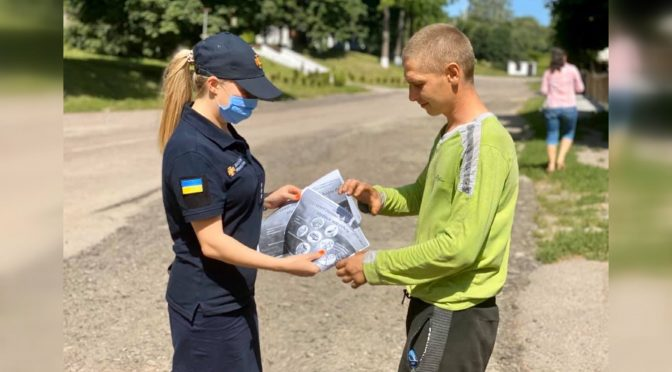 Смілянські рятувальники провели в селі Сунки рейд щодо правил поведінки в лісах