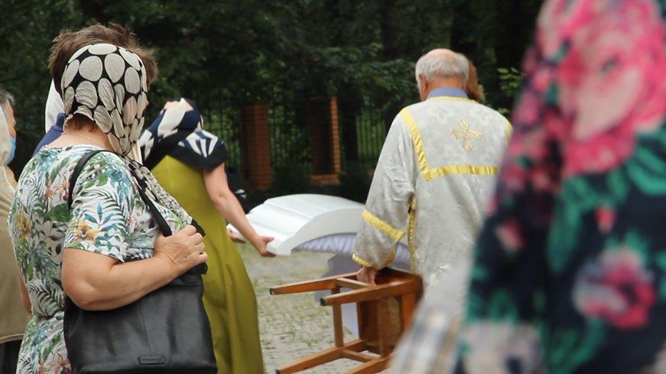 24 червня у Черкасах поблизу Свято-Михайлівського собору, на території Соборного скверу поховали митрополита Черкаського і Канівського Софронія