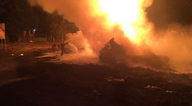 Вночі на відрізку траси Н-1, що проходить Черкащиною, перекинувся і загорівся бензовоз. Водій загинув