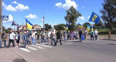 Сміляни, протестуючи проти адміністративної реформи, перекрили дорогу державного значення